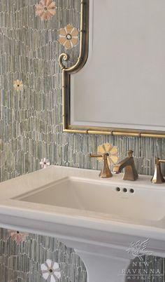 Meadow bathroom mosaic backsplash