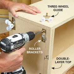 DIY pull out cabinets/shelves