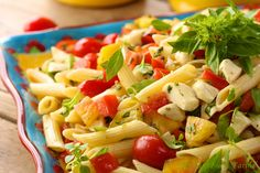 Penne Pasta Salad w/ Fresh Mozzarella and Heirloom Tomatoes