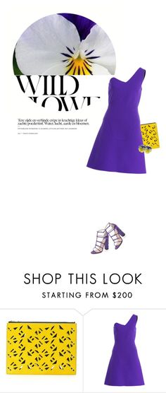 """""""Viola"""" by sharmarie ❤ liked on Polyvore featuring Kenzo, Roland Mouret and Paul Andrew"""
