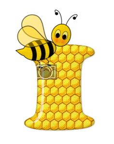 Alphabet letters bee on honeycomb. Alphabet Art, Alphabet And Numbers, Scrapbook Letters, Bee Pictures, Cartoon Clip, Spelling Bee, Bee Party, Bee Crafts, Bee Theme
