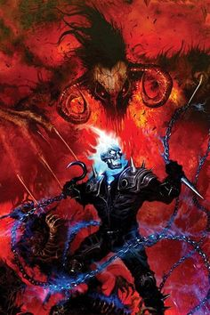 Ghost Rider. Fear is death, wish it upon me? Too late, I died long ago..