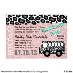 party bus invitations stars for a birthday bridal ormilelj, party invitations