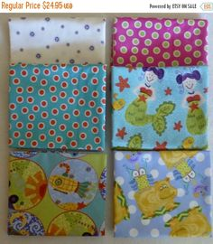50% OFF SALE Cotton Fabric,Quilt,Craft~Children's Fat Quarter Bundle of 6~ Group #1~Fast Shipping FQ256