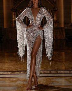 Sexy Maxi Dress, Sequin Dress, Dress Long, Long Sleeve Evening Dresses, Evening Gowns, Evening Party, Stunning Dresses, Elegant Dresses, Gorgeous Dress