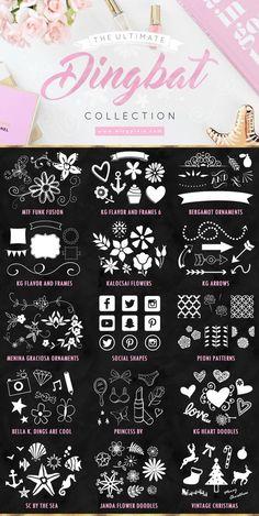design - The Ultimate Free Dingbat Fonts Collection Free Dingbat Fonts, Free Dingbats, Free Cricut Fonts, Font Design, Web Design, Graphic Design, Blog Design, Type Design, Identity Design
