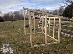 How to Build a Goat House: Supplies & Framing - DIY Danielle - Learn how to build a simple goat house that won't cost a fortune. This detailed photo and video tu - Sheep Shelter, Goat Shelter, Horse Shelter, Animal Shelter, Shelter Dogs, Shelters, Animal Rescue, Goat Shed, Goat House