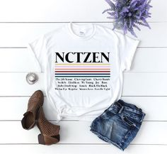 Nctzen Shirt NCT T-Shirt NCT 127 Shirt NCT U T-shirt Nct | Etsy Neon Outfits, Cute Outfits, Easy Stretches, Better Love, Kpop Aesthetic, Gift List, Nct 127, Fabric Weights, Happy Shopping