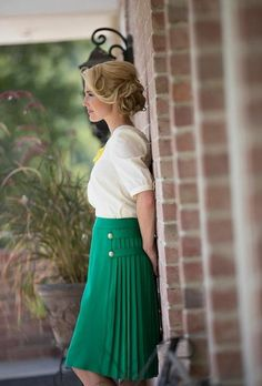 Pleated Button Skirt | ModestPop.com