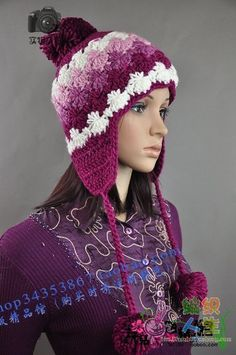Ear flap hat.  I love this, but the pattern instructions are in another language.  There are good pictures, but it might take me a while to figure this one out.