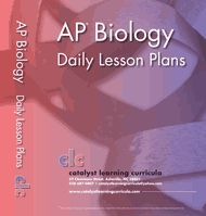 AP* Biology Daily Lesson Plans