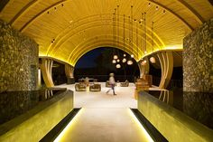 Shape, form and lots of contrasting textures...A Cocoon Inspired Hotel In Costa Rica By Zürcher Architects