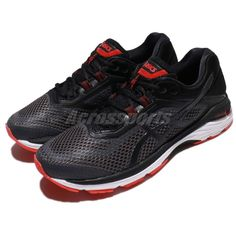 1dda98617 Asics GT-2000 6 Black Grey Red Men Road Running Shoes Sneakers T805N-9590