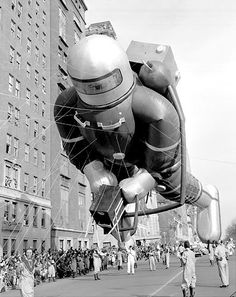 Vintage 1952, Spaceman, Macy's Thanksgiving Day Parade, NYC...