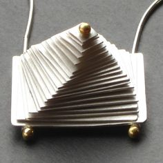 Sterling Spiral Pyramid Necklace with Spinning Action