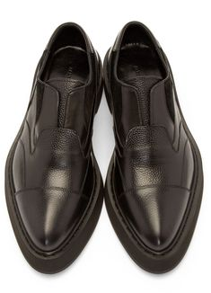 Alexander McQueen: Black Patchwork Platform Shoes | SSENSE