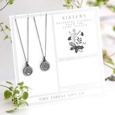 """A duo of pretty floral necklaces for """"different flowers from the same garden."""" 