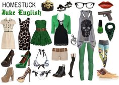"""Homestuck Fashion: Jake English"" by khainsaw on Polyvore"