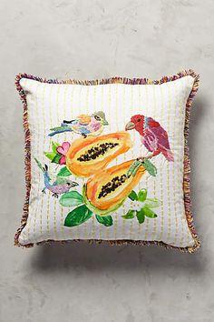 Spice Island Cushion, Papaya - anthropologie.eu