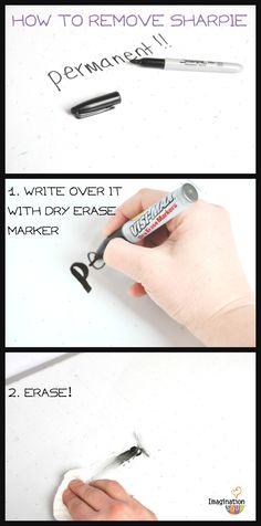 how to remove permanent marker (Sharpie) --Best Classroom Cleaning Hacks