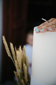 A wedding on Anafi Island | lafete wheat wedding decoration, candles, labades, orthodox wedding