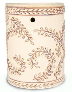 Cream Acanthus Fragrance Warmer - Wax Melter by Boulevard – Perduco Inc