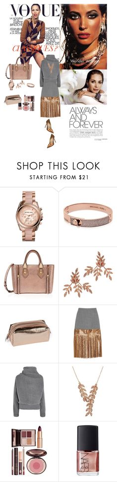 """Christy Turlington"" by jeanine65 ❤ liked on Polyvore featuring Michael Kors, Henri Bendel, Sidney Chung, Roberto Coin, J.Crew, Acne Studios, Charlotte Tilbury, NARS Cosmetics, Manolo Blahnik and women's clothing"