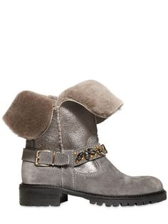 SHEARLING BOOTS by Miss Blumarine $463