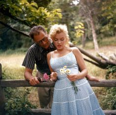 1957: Marilyn Monroe and Arthur Miller by Sam Shaw