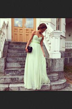 dress mint green dress grad