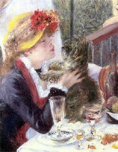 Pierre-Auguste Renoir (1881)  The Luncheon of the Boating Party (detail)