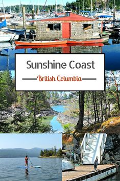 The Sunshine Coast, BC is a hidden gem in Canada. Hike, bike and swim in lakes. Here is your essential guide, with video, to the Sunshine Coast. Vancouver Island, Canada Vancouver, Visit Vancouver, Cool Places To Visit, Places To Travel, Places To Go, Sunshine Coast Bc, Canada Destinations, Visit Canada
