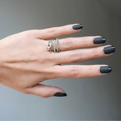 i would love me some matte black nail polish!