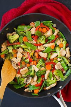 Healthy Chicken Stir Fry Recipe With Frozen Vegetables.Sweet Spicy Chicken And Vegetable Stir Fry Recipe 15 Best Healthy Dinner Ideas. Easiest Ever Chicken Stir Fry Video Family Food On . Home and Family Healthy Stir Fry Sauce, Healthy Chicken Stir Fry, Chicken Vegetable Stir Fry, Chicken And Vegetables, Frozen Vegetables, Vegetable Dish, Veggies, Stir Fry Vegetables, Healthy Chinese Recipes