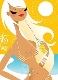 Kristen Ulve illustration. makes me want to go to Mexico.