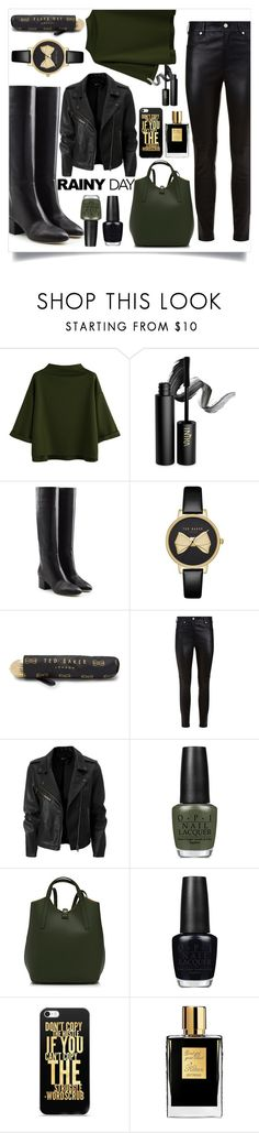"""""""Rainy outfit"""" by puljarevic ❤ liked on Polyvore featuring INIKA, Sergio Rossi, Ted Baker, Givenchy, OPI, Simons and Kilian"""