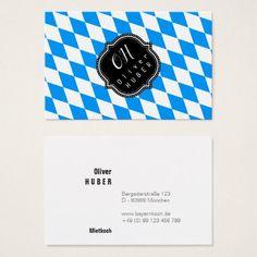Bavaria Professional: german size Business Card - individual customized designs custom gift ideas diy