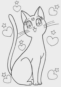 Espaço Educar desenhos para colorir pintar imprimir: Desenhos de gatos e gatinhos para colorir, pintar e imprimir