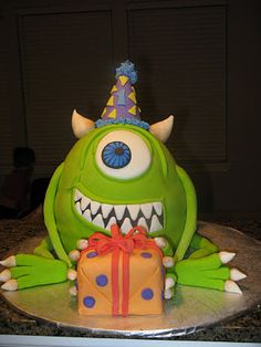 Monster's Inc. Birthday Cake. This lady has an incredible cake decorating talent!!