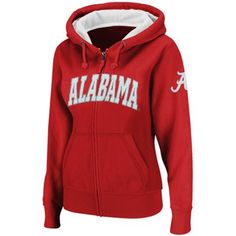 Alabama Crimson Tide Women's Crimson Classic Arch Full Zip Hooded Sweatshirt