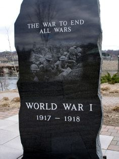 The World War 1 Memorial. -  if only it had been the war to end all wars!