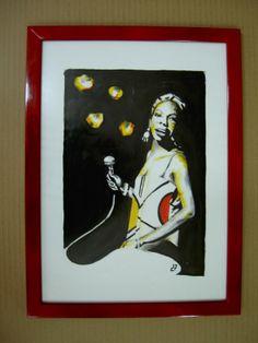 Nina Simone by diogenis papadopoulos, via Behance