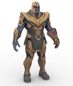 Thanos - Fortnite by papkapapka on DeviantArt Thanos Marvel, Marvel Villains, Lego Marvel, Marvel Dc Comics, Marvel Heroes, Marvel Avengers, Thanos Infinity Gauntlet, Epic Games Fortnite, Armor Concept