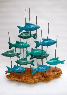 'Copperweed Creek Crew' by Urpu Sellar. Handcrafted ceramic sculpture. £445  info@whitehousegallery.com  01557 330223