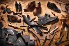 Shoemaker tools and materials from FB post