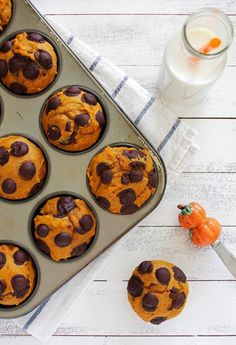Recipe: Pumpkin Chocolate Chip Muffins from Bright Eyed Baker