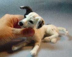 Benutzerdefinierte Hund Portrait Nadel gefilzt Skulptur Haustier gemacht um zu bestellen