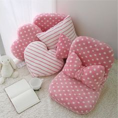 68 Super Ideas For Baby Diy Pillow Projects Bow Pillows, Cute Pillows, Sewing Pillows, Cute Furniture, Pillow Crafts, Diy Bebe, Patchwork Pillow, Baby Sewing Projects, Bedding Basics