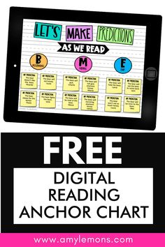 Are you struggling to find digital reading activities for your students during distance and virtual learning?  Or is your classroom using more technology now than ever?  These activities for Making predictions are  FREE.  Students make predictions throughout the text, complete a reading response activity, and participate in classroom discussions with a digital anchor chart. Predicting Activities, Reading Response Activities, Making Predictions, Classroom Charts, Reading Anchor Charts, Free Teaching Resources, Any Book, Read Aloud, Language Arts