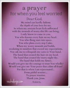 A prayer for worry!